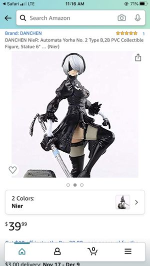 Danchen NoeR- Automata yorha #2 collectible figure statue 6 for Sale in Wellford, SC
