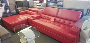 RED LEATHER SECTIONAL for Sale in North Las Vegas, NV