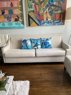 Beige nailed sofa set for Sale in Brooklyn,  NY
