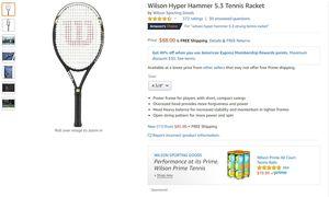 Wilson Hyper Hammer 5.3 Tennis Racket for Sale in Chicago, IL
