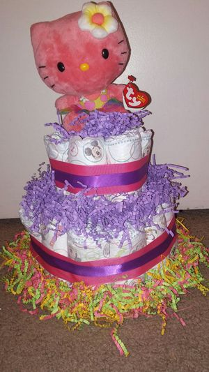 Rainbow hello kitty diaper cake for Sale in Casselberry, FL