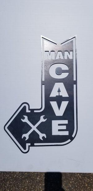 Man Cave CNC Plasma Cut Wall Art Sign Raw Steel for Sale in Acworth, GA