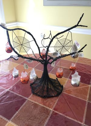 Used, Hallmark Halloween Tree with ghost and jack-o-lantern Ornaments for Sale for sale  Lilburn, GA