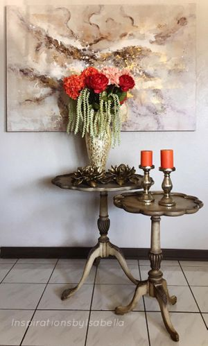 Pie Crust Pedestal End Tables for Sale in Downey, CA