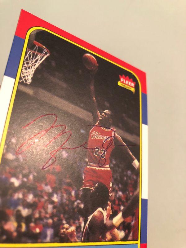 Michael jordan Autograph Card Basketball Card Chicago Bulls