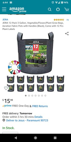Jeria grow bags for Sale in Paramount, CA