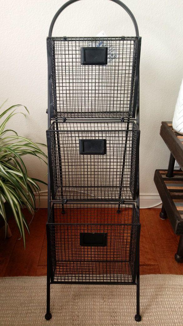 Black Metal Wire Organizer (3-tier)