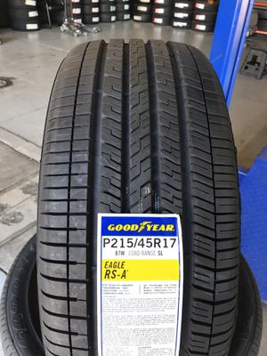 215/45/17 New set of Goodyear tires installed for Sale in Rancho Cucamonga, CA