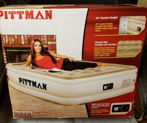 New Pittman double high queen air mattress with pump for Sale in Bronx, NY