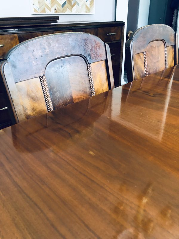 Antique Red Mahoney Dining table