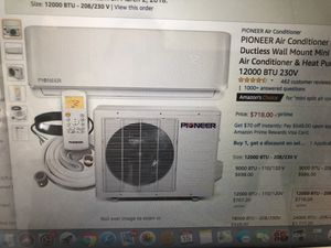 PIONEER AIR CONDITIONER INVERTER + DUCTLESS WALL MOUNT MINI SPLIT SYSTEM AND HEAT PUMP FULL SET 12,000BTU 230V for Sale in Orlando, FL