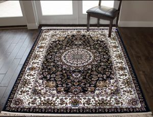 8/11 art silk cotton navy blue rug classic floral design carpet for Sale in Los Angeles, CA