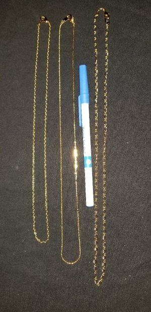 NEW 2000 Avon Goldtone Necklace Bundle 3 Styles / 3 Lengths ** Never Worn ** ** Nice Gift ** for Sale in Lansing, IL