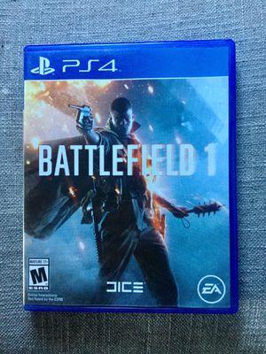 PS4 battlefield 1 like new for Sale in Bellflower, CA