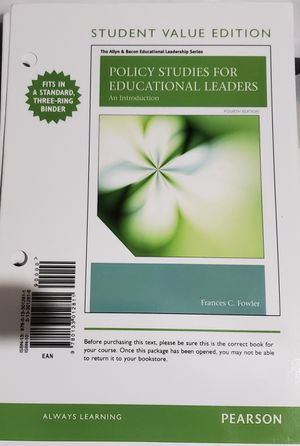 Policy Studies for Educational Leadership for Sale in West Covina, CA