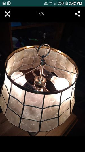 ANTIQUE arts and crafts Table lamp with mocha shade for Sale in Bellevue, WA