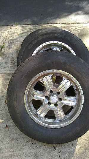 17 inch 6 hole rims with tires for Sale in UPPR MARLBORO, MD