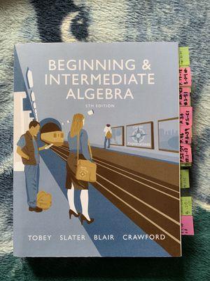 Beginning & Intermediate Algebra for Sale in Kissimmee, FL