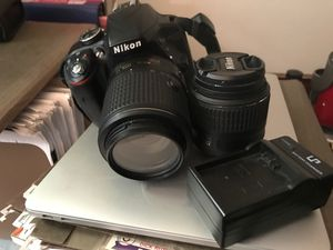 Nikon D3300 DSLR; two lens kit (15mm-55) and 55-200mm zoom (on camera). Also included battery charger and battery and cases for camera & lenses. for Sale in Philadelphia, PA