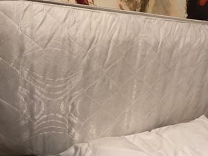 Clean queen mattress with box spring no stains, pet free home smoke free for Sale in Melbourne, FL