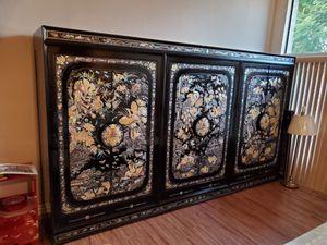 Antique Asian Lacquer Cabinet for Sale in Montebello, CA