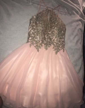 Short pink and gold prom dress ! Price can change for Sale in Germantown, MD