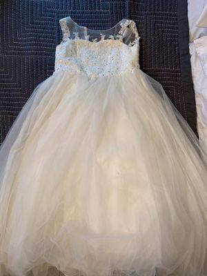 Ivory Flower girl dress for Sale in Providence, RI