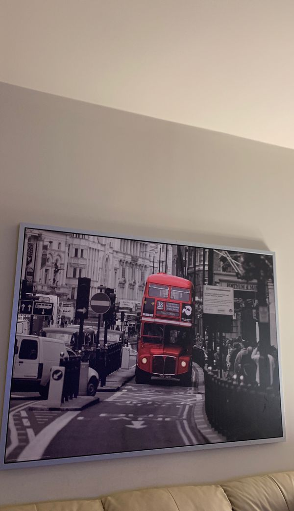 London City Photo - Framed print 55x 33.5
