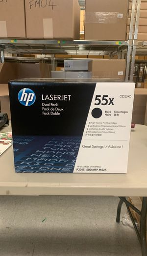 HP 55X Black Toner Cartridges, High Yield 2/Pack (CE255XD) for Sale in Bridgeport, CT
