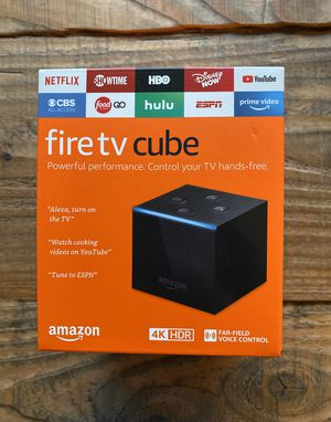 New/Sealed Amazon Fire TV Cube 2nd Gen 4K HDR + Gift Receipt for Sale in Lakeville, MN