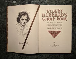 Elbert Hubbard's Scrap Book 1949 WM. H. Wise & CO., INC. New York for Sale in Galloway, OH