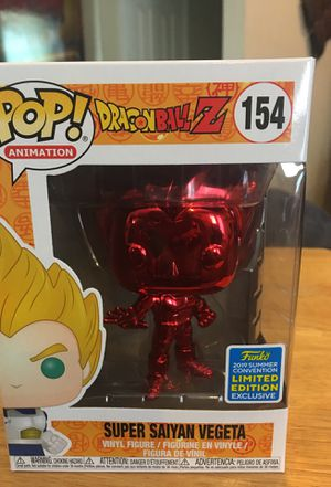 Pop 154. Dragonball Z. Super Saiyan Vegeta red chrome. 2019 summer convention limited edition exclusive for Sale in Dallas, TX