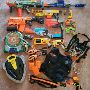 Nerf Guns And Items Lot for Sale in Hanover, MD