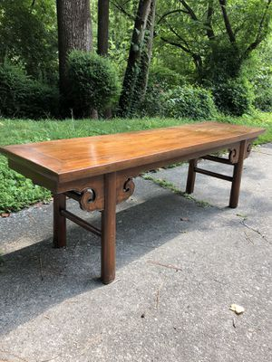 Antique Asian Wood Bench for Sale in Atlanta, GA