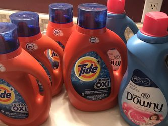 1 Tide 92 oz And 3 Tide 46 Oz 1 Downy 77 Oz And Downy 51 Oz for Sale in Oregon City,  OR
