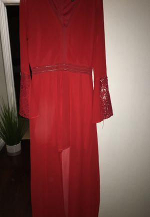 Sequin Hearts Women's Beautiful Long Red Dress (size9) Very Good Condition for Sale in La Puente, CA