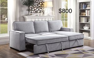 $50 down / New Sectional couch with pullout bed / FREE DELIVERY for Sale in Los Angeles, CA