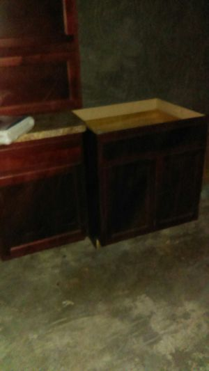 Laminated cherry wood kitchen counter cabinets for Sale in Detroit, MI