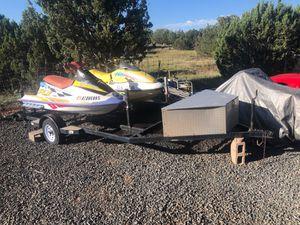 2 jet skis and trailer for sale $1300 for Sale in White Mountain Lakes Estates, AZ