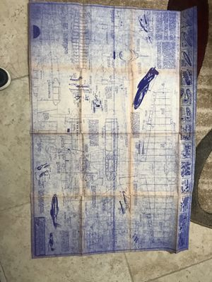 Used, 1944 P-51 wooden model blueprint for Sale for sale  Houston, TX
