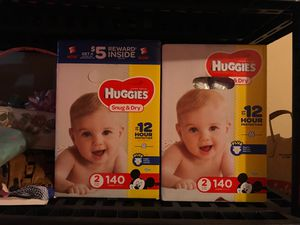 Brand new, unopened boxes size 2 huggies diapers for Sale in San Diego, CA
