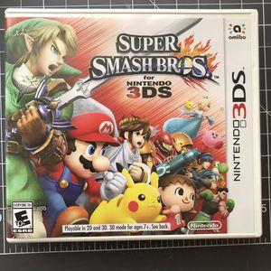 Nintendo 3ds Super Smash Bros for Sale in Fontana, CA