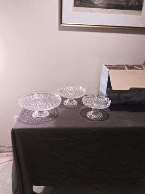 Imperial Estate Crystal Cake Pedestals for Sale in Silver Spring, MD