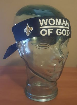 New Orleans Saints Woman of God Bandana For Sale Man of God. New shipped to anywhere in the U.S. PayPal, Cash App for Sale in Port St. Lucie, FL