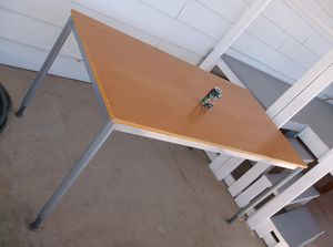 IKEA wood and metal table for display or desk etc. for Sale in Tucson, AZ