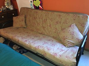 Futon with upgraded mattress, cover and matching pillow slips. for Sale in Marietta, GA