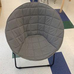 Grey Papasan Folding Chair Adult Size for Sale in Auburn,  WA