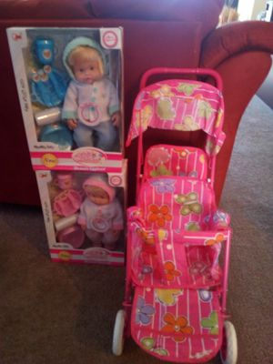 Double dolls double the stroller all for $50 for Sale in Palmdale, CA