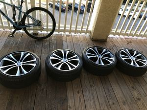 1/2 series BMW stock rims and tires (BRAND NEW P ZERO) for Sale in St. Petersburg, FL