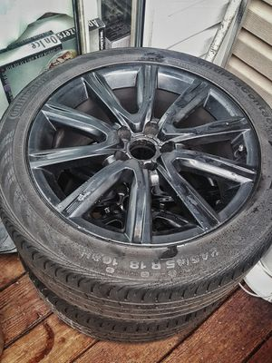 "OEM AUDI 18"" WHEELS CONTINENTAL CONTACT TIRES for Sale in Sterling, VA"